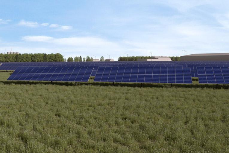 Canada solar garden